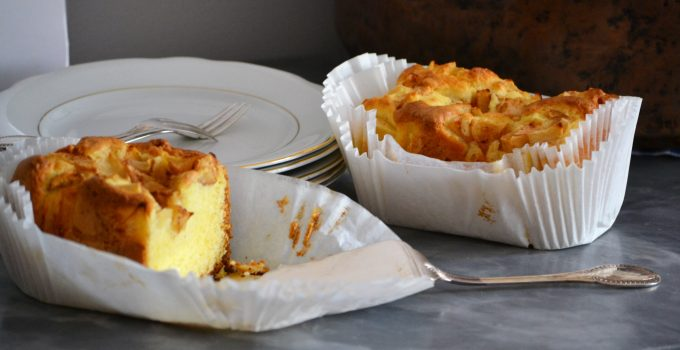 Torta allo yogurt vestita da torta di mele (ricetta per Bimbi Tm5 o ciotola)