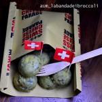 Semisferere di patate Gruyére e cime di rapa