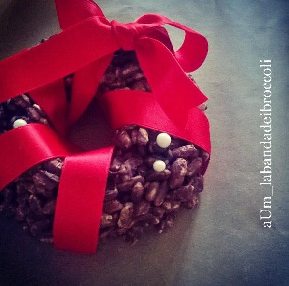 ghirlanda riso soffiato e cioccolato_labandadeibroccoli_1 -001